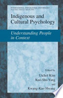 Indigenous and Cultural Psychology