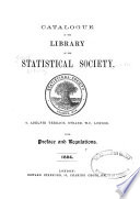 Catalogue Of The Library Of The Statistical Society