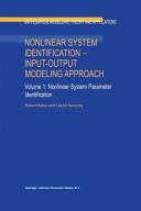 Nonlinear System Identification     Input Output Modeling Approach