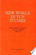New World Dutch Studies