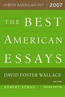 The Best American Essays 2007 Book