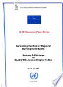 Enhancing the Role of Regional Development Banks