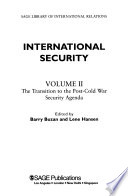 International Security: The transition to the post-Cold War security agenda