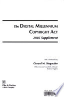 Digital Millennium Copyright Act - 2005 Supplement