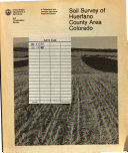 Soil Survey of Huerfano County Area  Colorado