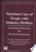 Nutrition Care Of People With Diabetes Mellitus Book PDF