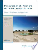 Declaration On U S Policy And The Global Challenge Of Water