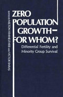 Zero Population Growth  for Whom