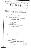 Codes of the Province of Quebec