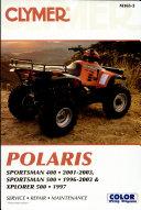 Clymer Polaris, Sportsman 400, 2001-2003, Sportsman 500, 1996-2003 & Xplorer 500 1997