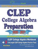 CLEP College Algebra Preparation 2020   2021