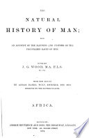 Natural History of Man Book