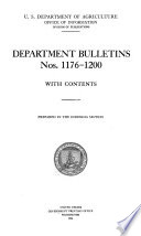 Bulletin of the U S  Department of Agriculture