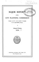 Major Reports of the City Planning Commission