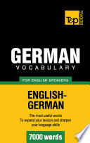 German Vocabulary For English Speakers 7000 Words Book PDF