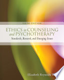 Ethics in Counseling   Psychotherapy Book PDF