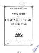 Annual Report Of The Department Of Mines New South Wales
