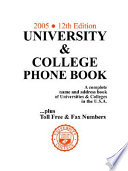 University College Phone Book 2005