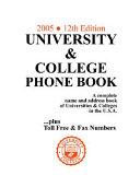 University   College Phone Book  2005