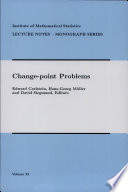 Change Point Problems