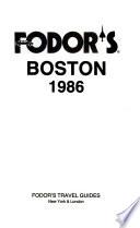Fodor's Boston, 1986