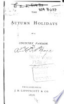 The Autumn Holidays of a Country Parson