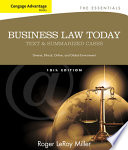 Cengage Advantage Books Business Law Today The Essentials Text And Summarized Cases Book