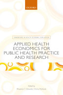 Applied Health Economics for Public Health Practice and Research Pdf/ePub eBook