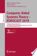 Computer Aided Systems Theory     EUROCAST 2019