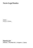 Socio legal Studies Book
