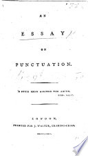an essay on punctuation joseph robertson google books an essay on punctuation by joseph robertson full view 1785