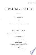 Strategi og politik; et bidrag til belysning af staternes magtstilling