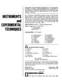 Instruments And Experimental Techniques Book PDF