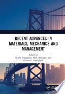 Recent Advances in Materials  Mechanics and Management