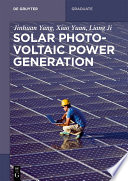 Solar Photovoltaic Power Generation Book