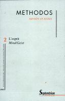Methodos N° 2 / 2002 : L'esprit Mind/Geist