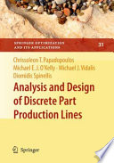 Analysis And Design Of Discrete Part Production Lines Book PDF