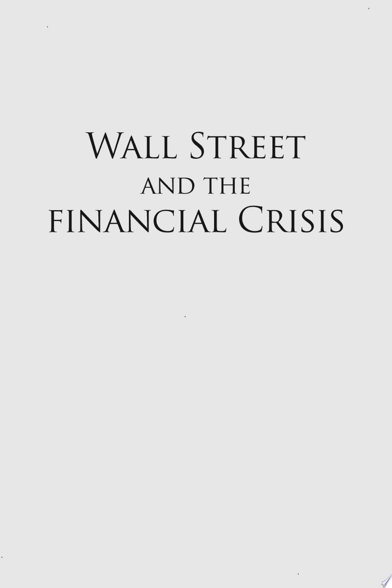 Wall Street and the Financial Crisis banner backdrop