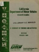 California Department Of Motor Vehicles Research Studies