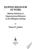Filipino Behavior at Work