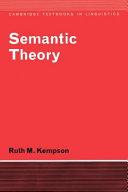Semantic Theory
