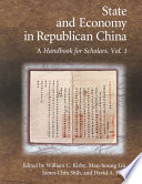 Read Online State and Economy in Republican China For Free