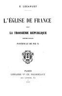 L'Église de France sous la Troisième République: Pontificat de Pie IX, 1870-1878