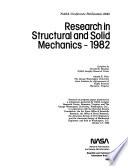 Research in Structural and Solid Mechanics  1982 Book