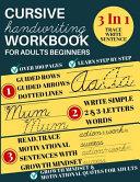 Cursive Handwriting Workbook For Adults Beginners