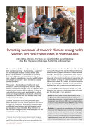 Increasing awareness of zoonotic diseases among health workers and rural communities in Southeast Asia