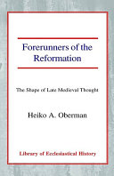Forerunners of the Reformation