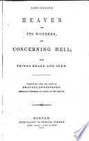 Concerning Heaven and Its Wonders  and Concerning Hell Book PDF
