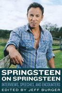 Springsteen on Springsteen Pdf/ePub eBook