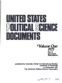 UNITED STATES POLITICAL SCIENCE DOCUMENTS VOLUME ONE 1975